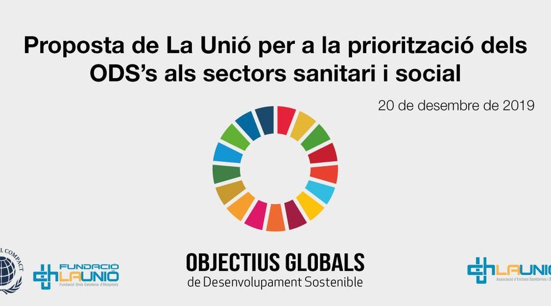 Proposta de La Unió per a la priorització dels ODS's als sectors sanitari i social